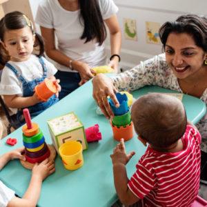 Classroom kids with teacher